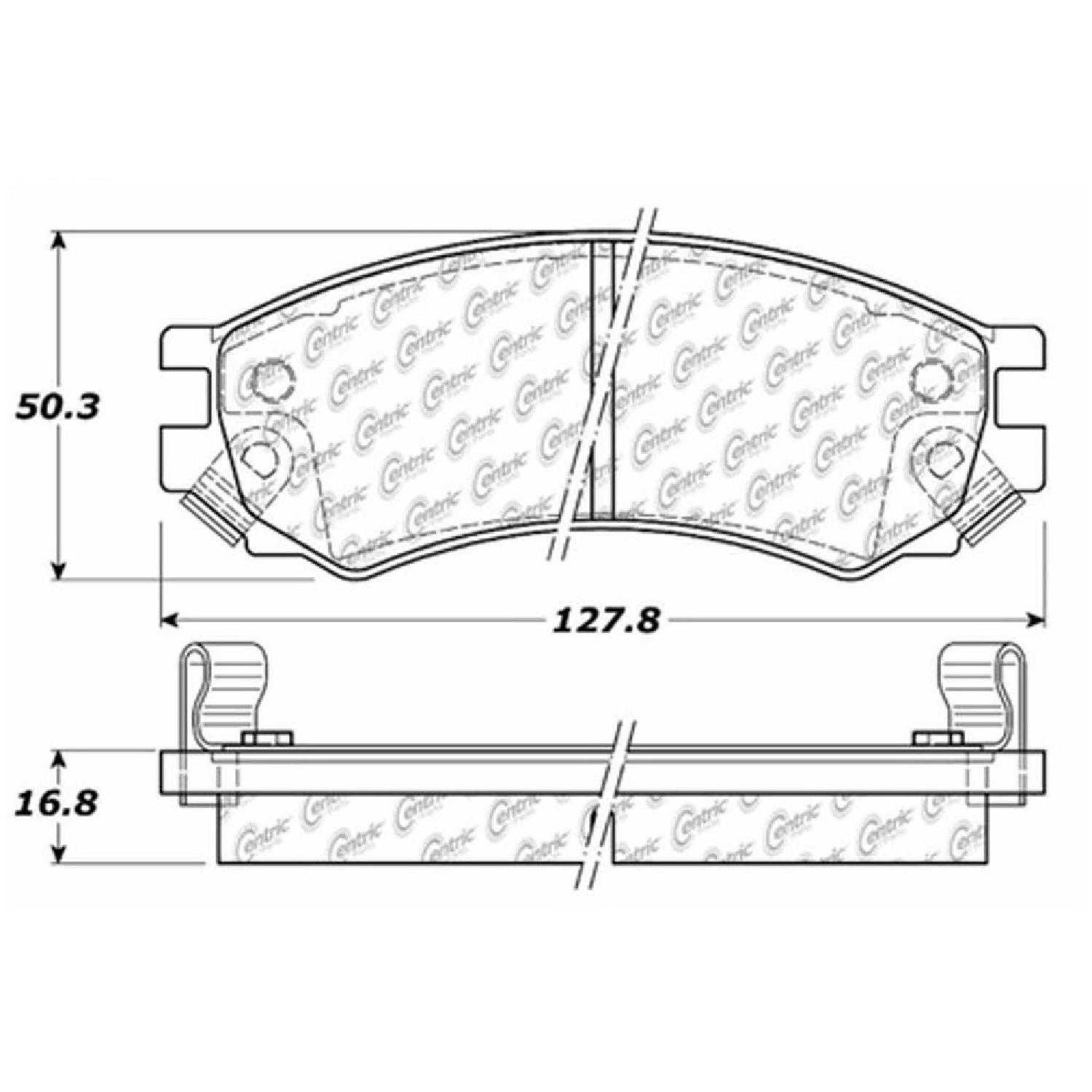 Centric Parts Brake Pads Front Rear For 91-98 Saturn SL2