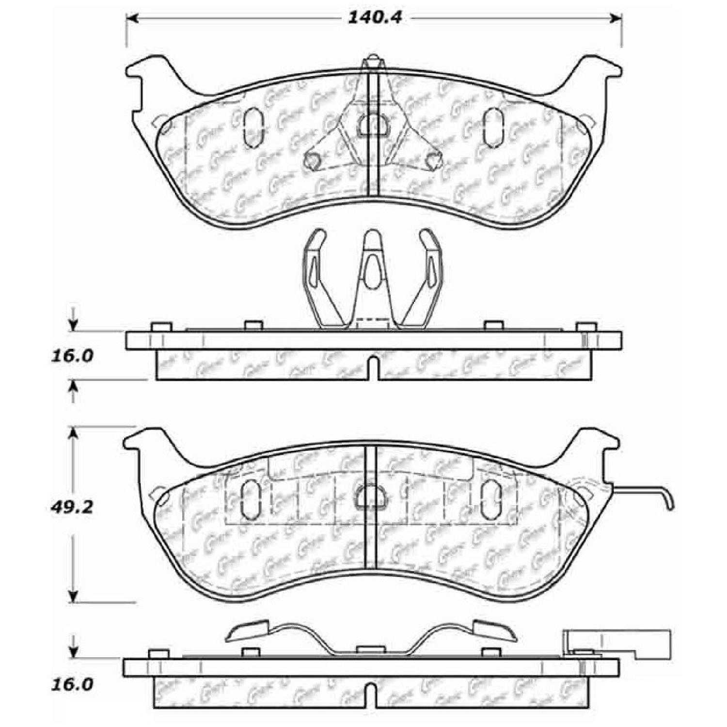 Centric Parts New Brake Pads Front Rear For 96 97 Mercury