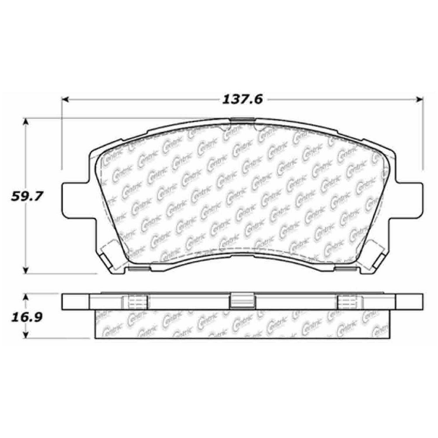 Centric Parts Brake Pads Front Rear For 98-2002 Subaru