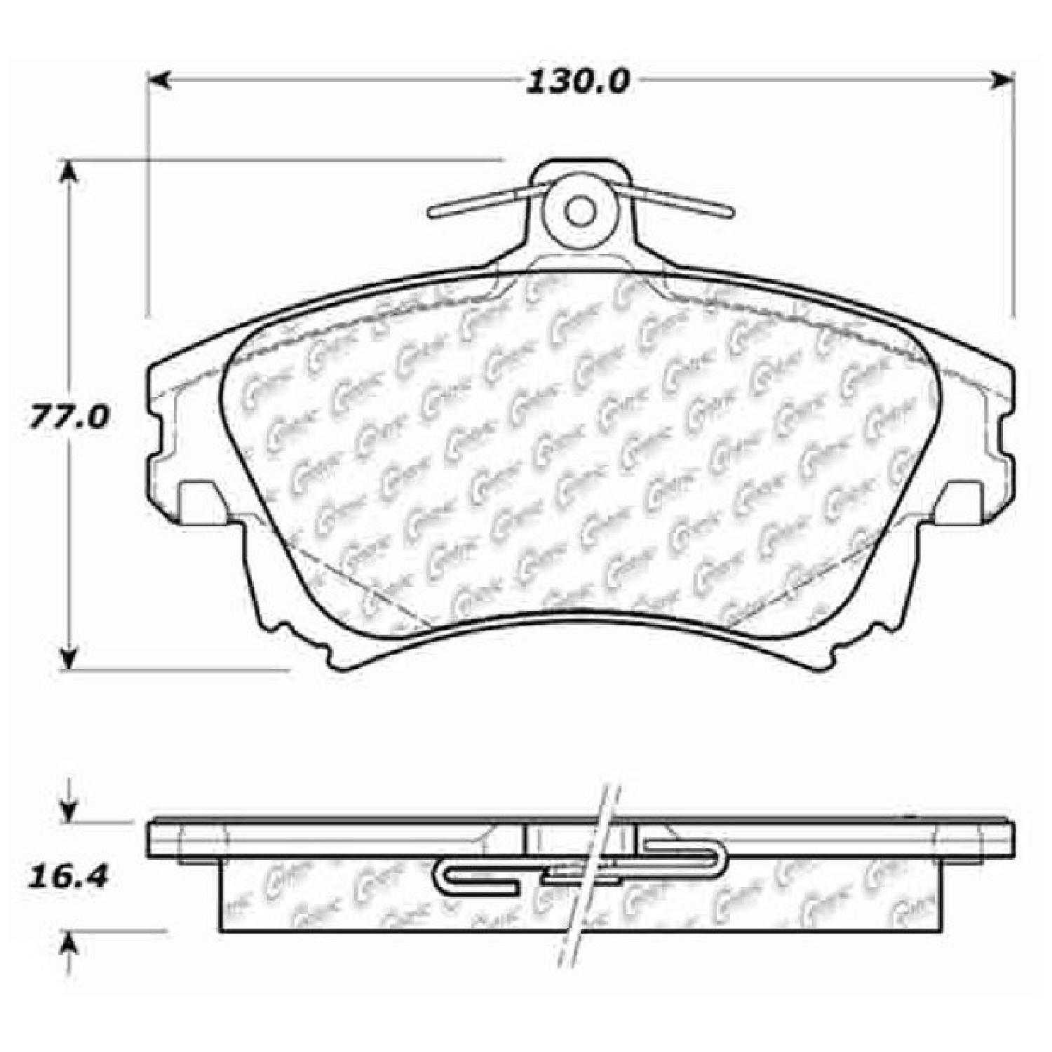 Centric Parts New Brake Pads Front Rear For 07 09 Volvo