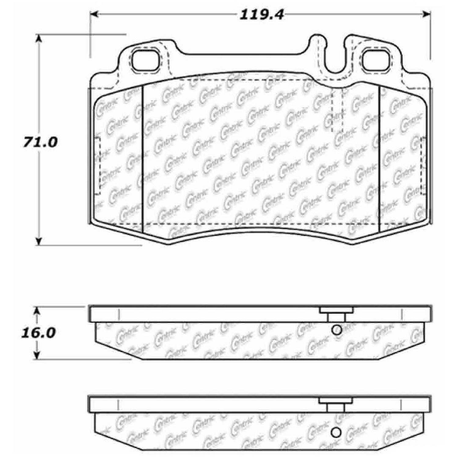 Centric Parts Brake Pads Front Rear For 05,07-09,12-13