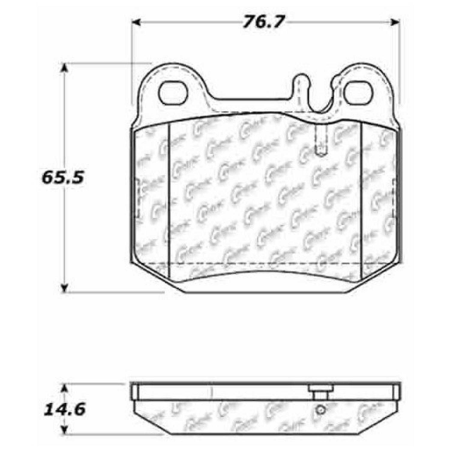 Centric Parts NEW Brake Pads Front Rear For 00-03 Mercedes