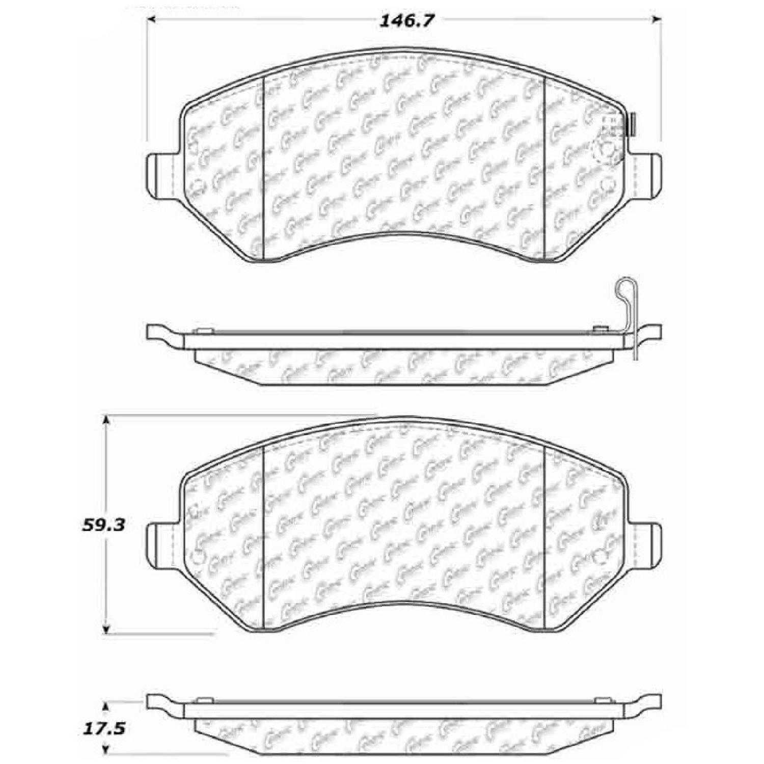 Centric Parts Brake Pads Front Rear For 05 Jeep Liberty