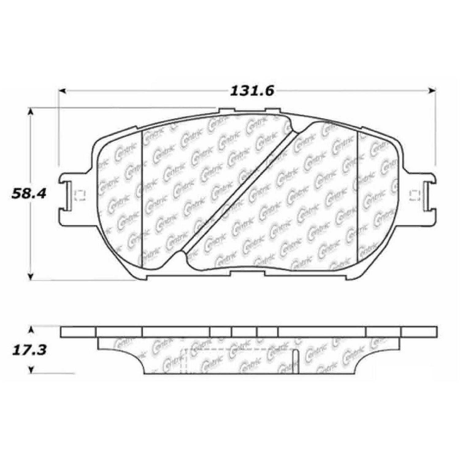 Centric Parts Brake Pads Front Rear For 09-13 Lexus IS250