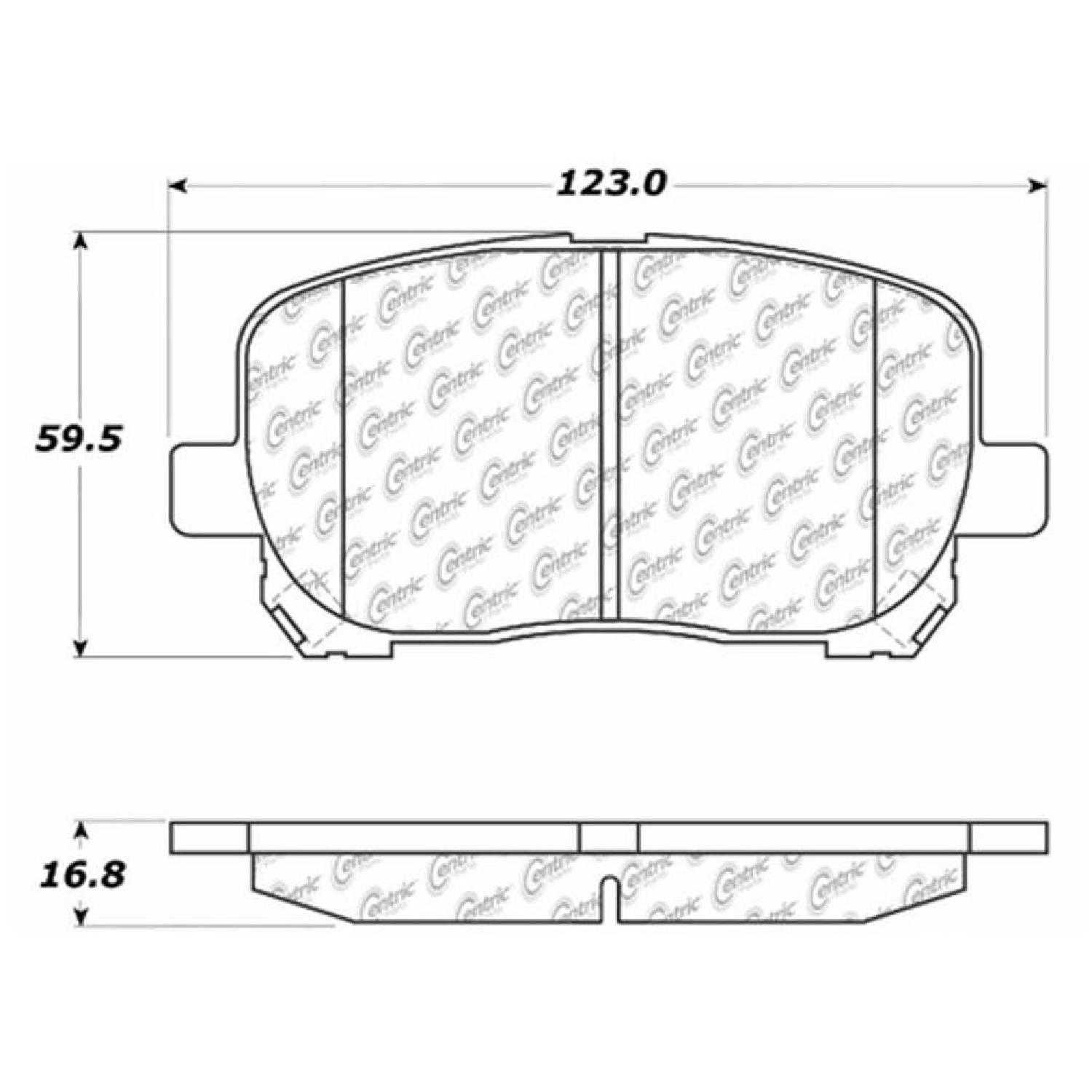 Centric Parts Brake Pads Front Rear For 05-06 Toyota
