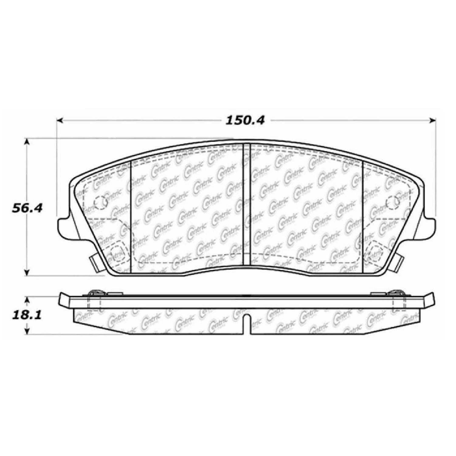 Centric Parts Brake Pads Front Rear For 05 Dodge Magnum