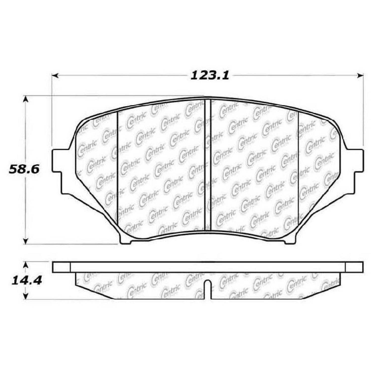 Centric Parts Brake Pads Front Rear For 11-12 Mazda MX-5