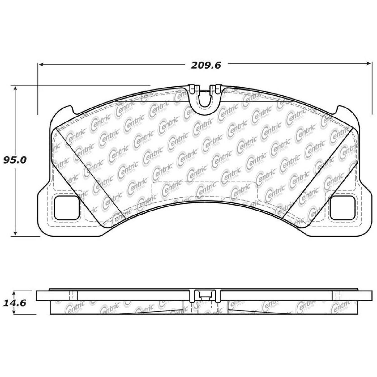 Centric Parts Brake Pads Front Rear For 2014 Porsche