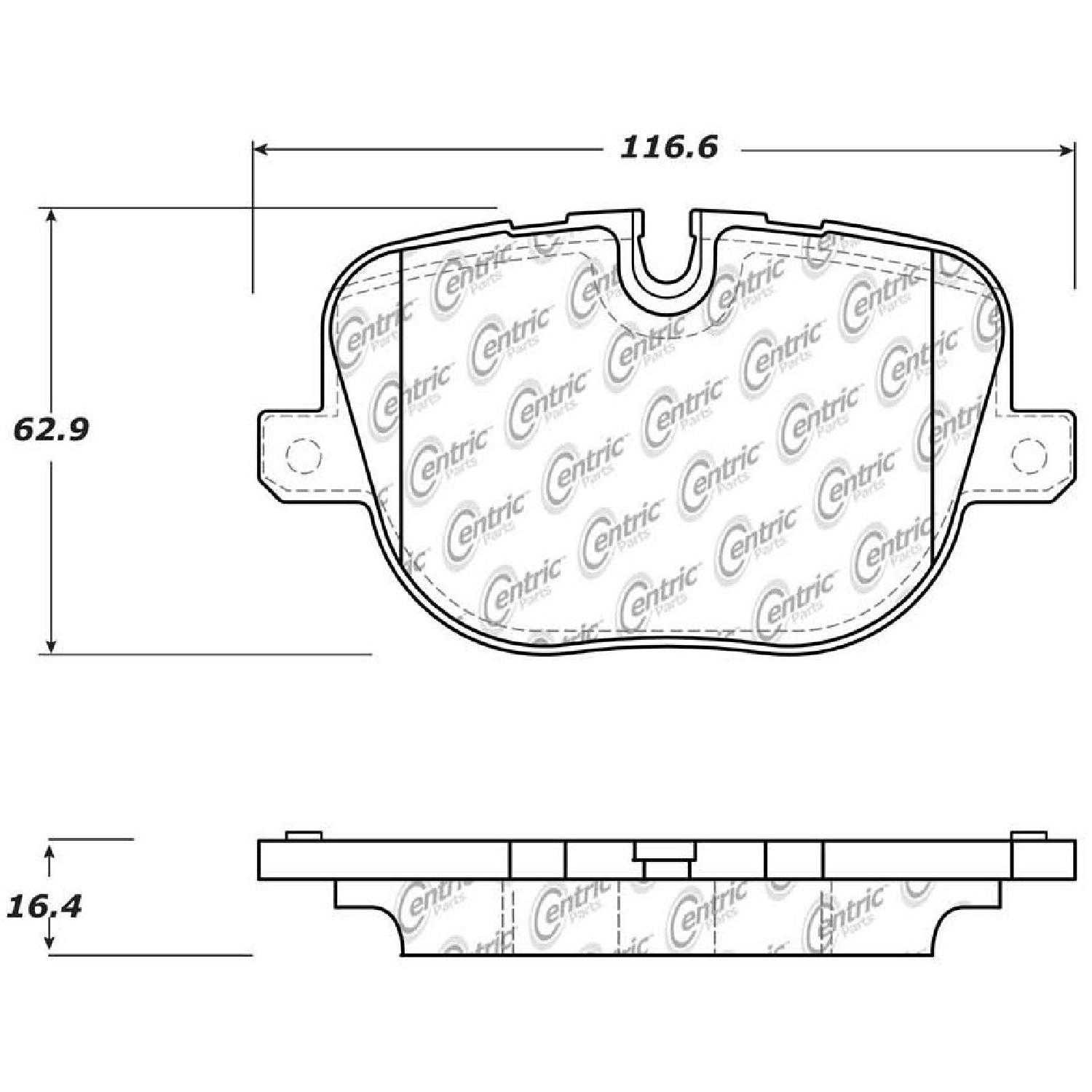 Centric Parts Brake Pads For 2010-2012 Land Rover Range