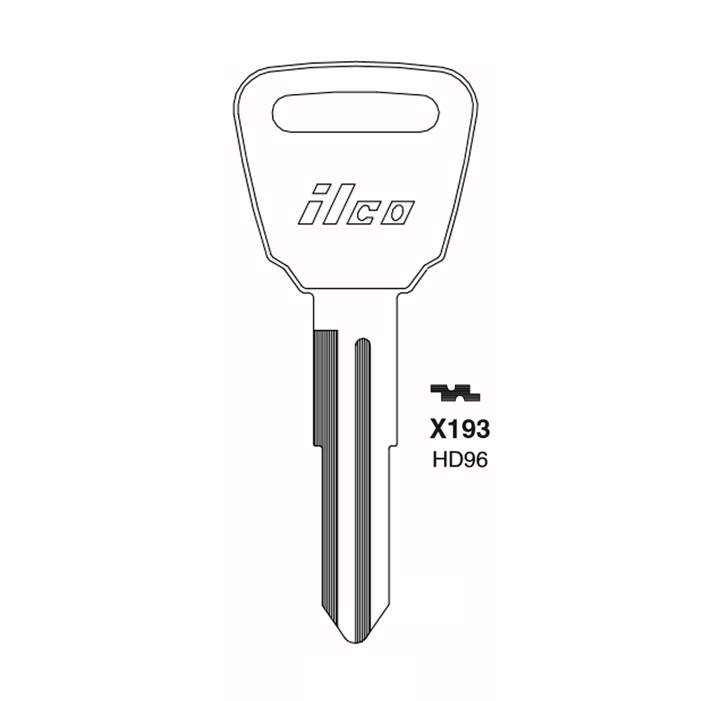 ILCO Replacement Uncut Key Blank for Honda Motorcycle