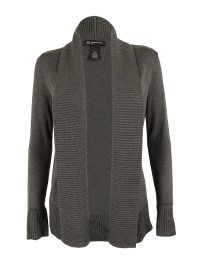 INC Women's Shawl Collar Ribbed Trim Cardigan Sweater | eBay