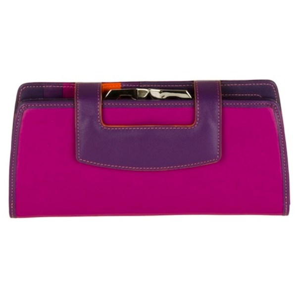 Walit Large Frame Purse Wallet Clutch Sangria Multi