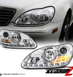 details about 2000 06 w220 s class s500 s430 euro chrome projector led headlight h7 lamp lh rh [ 1000 x 1000 Pixel ]
