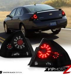 details about 2006 2013 chevrolet impala ls lt ltz ss sinister black led signal tail lights [ 1000 x 1000 Pixel ]