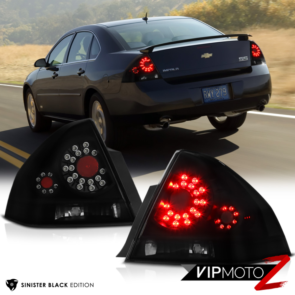 hight resolution of details about 2006 2013 chevrolet impala ls lt ltz ss sinister black led signal tail lights