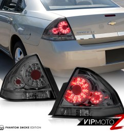 details about 2006 2013 chevy impala ls lt ss phantom smoke smd high power led tail lights [ 1000 x 1000 Pixel ]