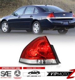 details about lh driver side 2006 2013 chevrolet impala rear stop brake tail lights assembly [ 1000 x 1000 Pixel ]