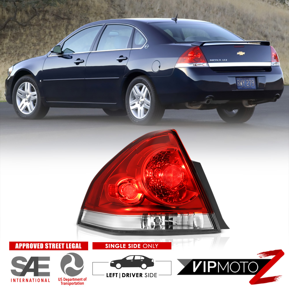 medium resolution of details about lh driver side 2006 2013 chevrolet impala rear stop brake tail lights assembly