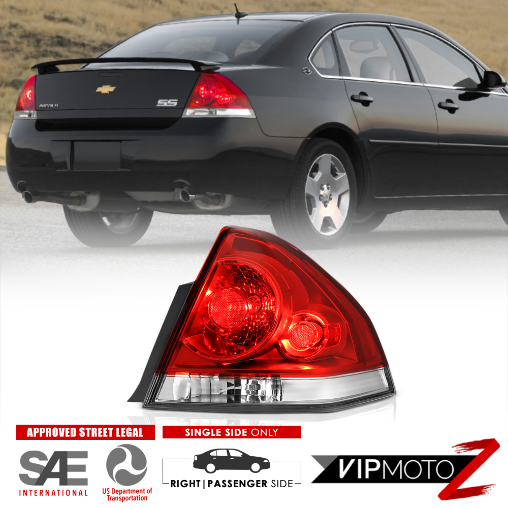 medium resolution of details about 06 13 chevy impala red clear passenger side replacement tail light brake lamp