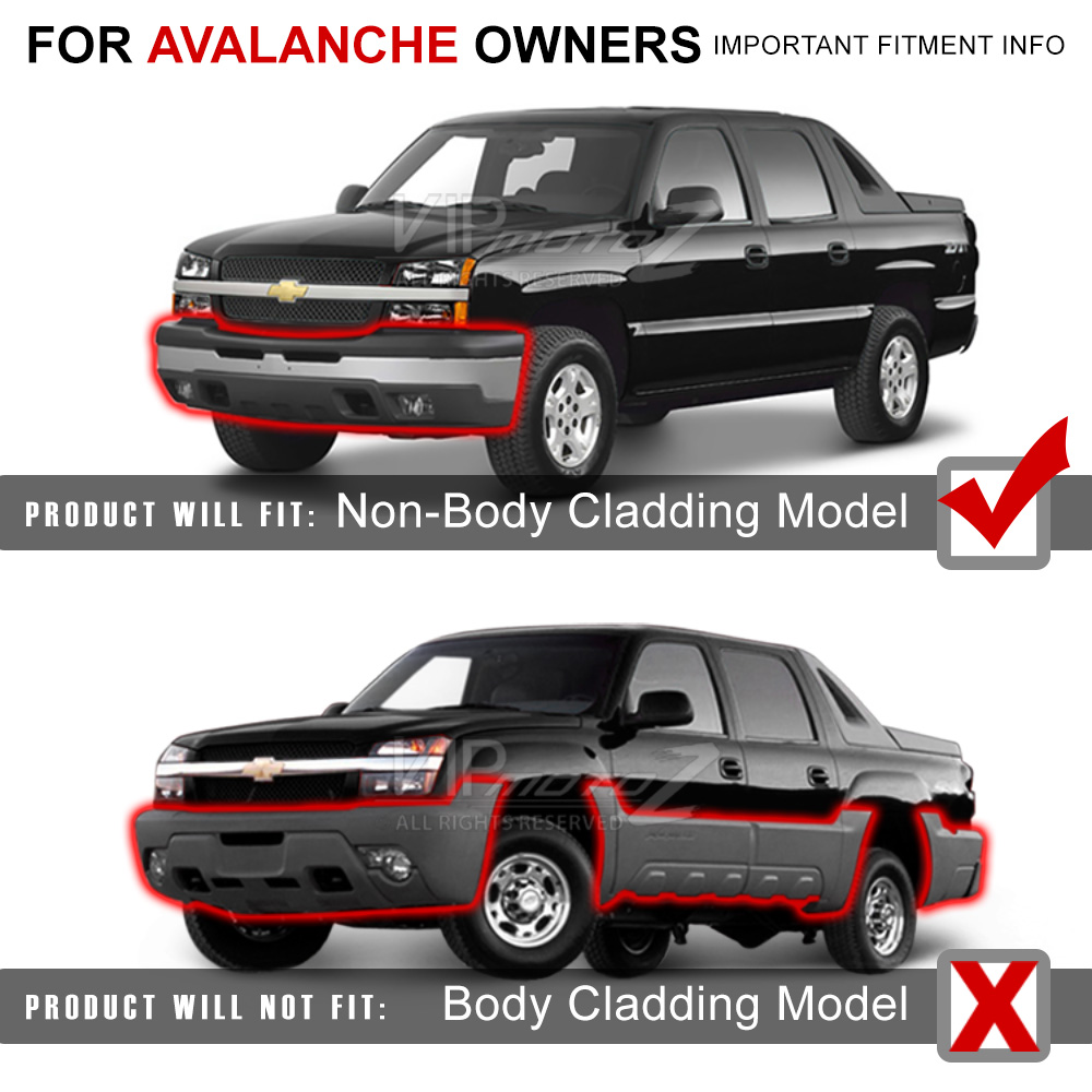 medium resolution of not compatible with avalanche with factory body cladding black door molding