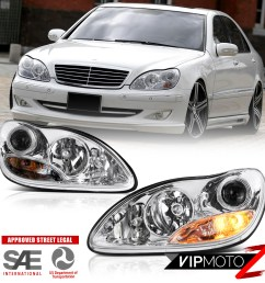 2000 2006 mercedes benz w220 s430 s500 projector headlights left right assembly [ 1000 x 1000 Pixel ]