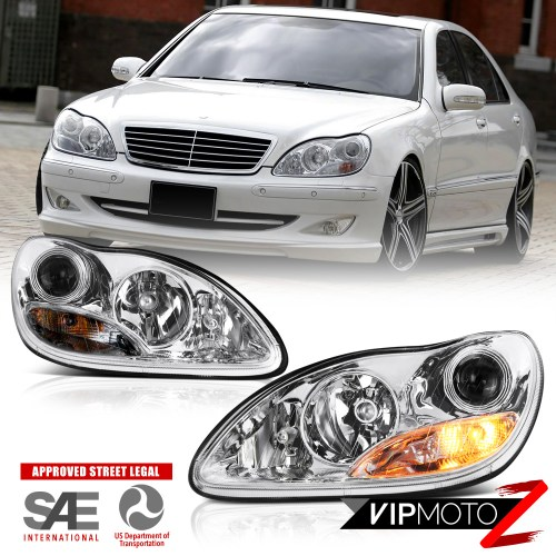 small resolution of 2000 2006 mercedes benz w220 s430 s500 projector headlights left right assembly
