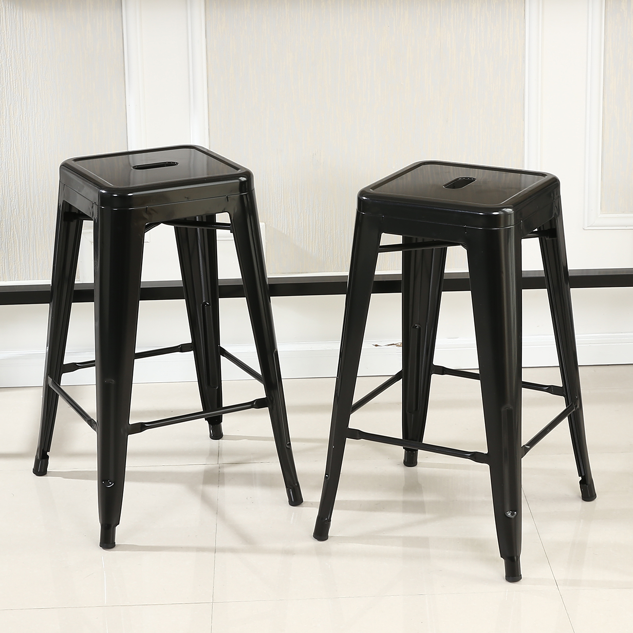 Bar Chairs Set Of 6 Metal Steel Bar Stools Vintage Antique Style