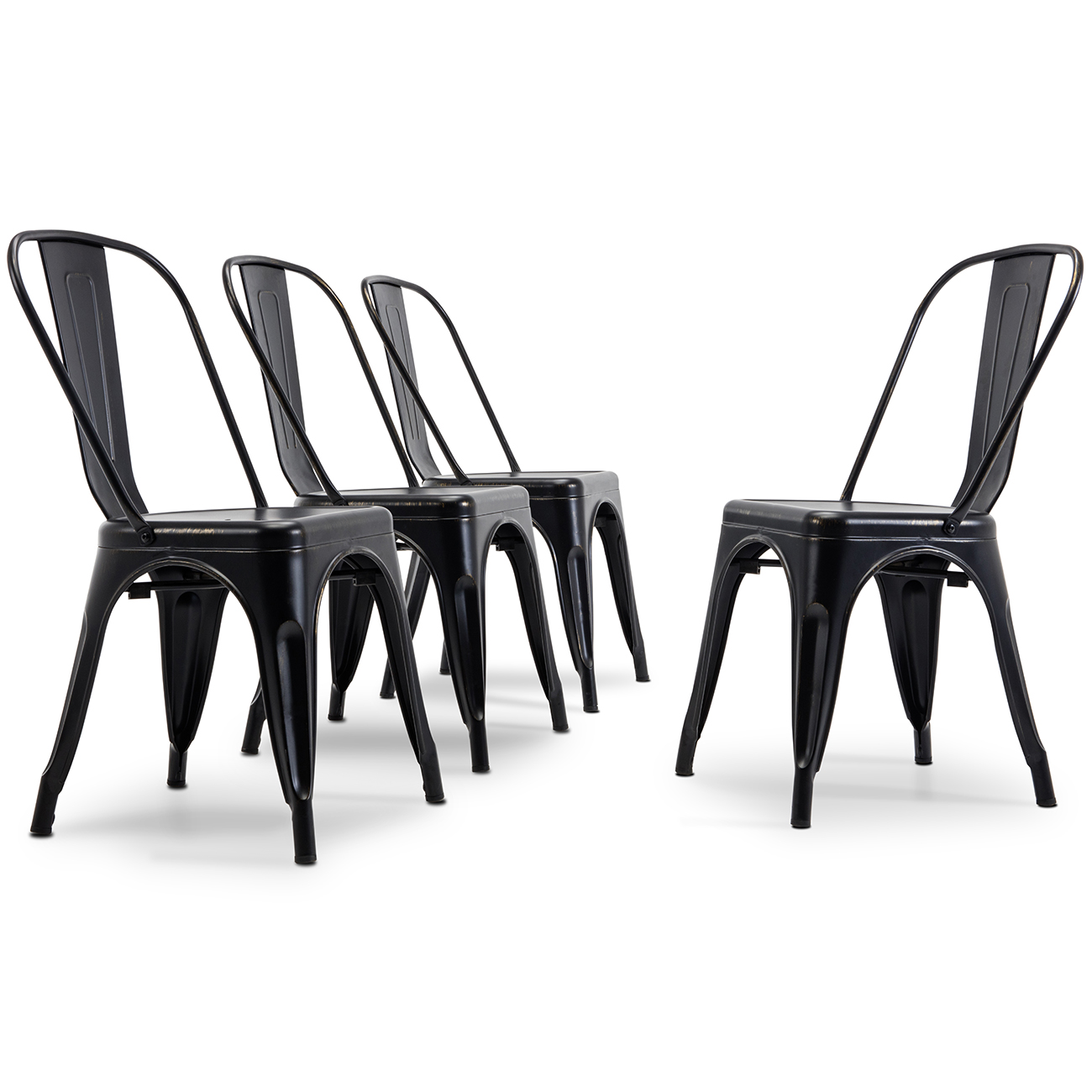 Metal Chairs Details About Antique Black Set Of 4 Metal Chairs Stackable Dining Room Chairs Indoor Outdoor