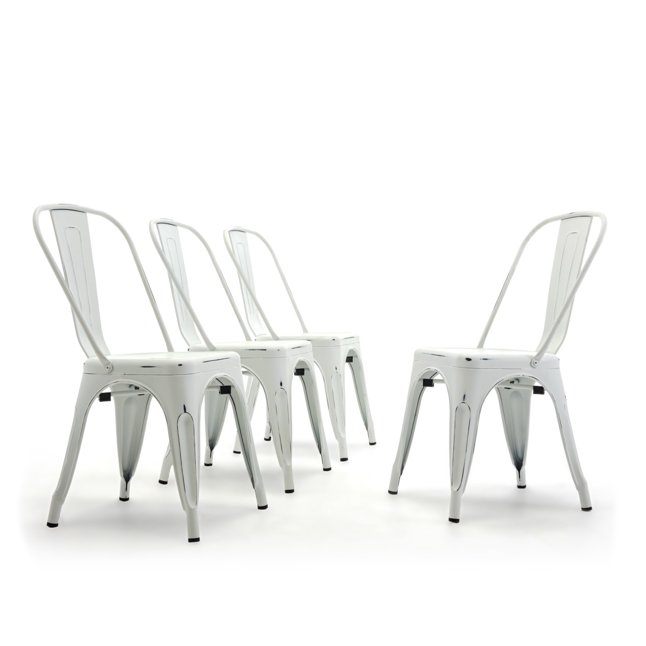 Antique White Dining Chairs Details About Set Of 4 Metal Bistro Cafe Modern Style Dining Chairs Stackable Antique White