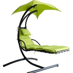 Swing Chair Over Canyon Silk Upholstered Hanging Chaise Lounge Hammock Canopy Glider