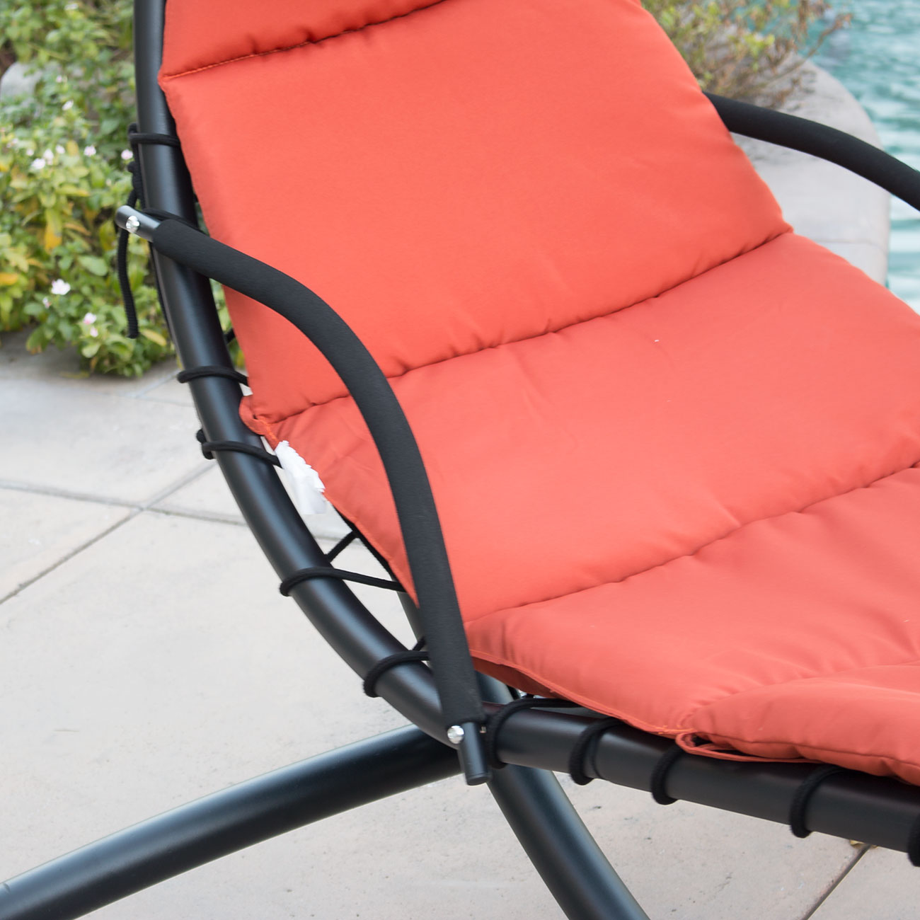 hammock chair with canopy sedan for sale hanging chaise lounger arc stand air porch swing