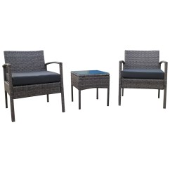 Rattan Sofa And Coffee Table Rowe Sofas 3pc Wicker Bistro Set Chair
