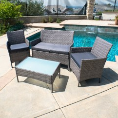 Outdoor Rattan Wicker Sofa Sectional Patio Furniture Set Distinctly Home Martini 78 4 Pc Garden
