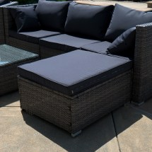 6pc Outdoor Patio Furniture Sectional Rattan Wicker Sofa