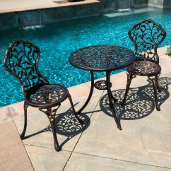 Bistro Patio Chairs Antique English Windsor 3pc Set Table Ivory Furniture Balcony