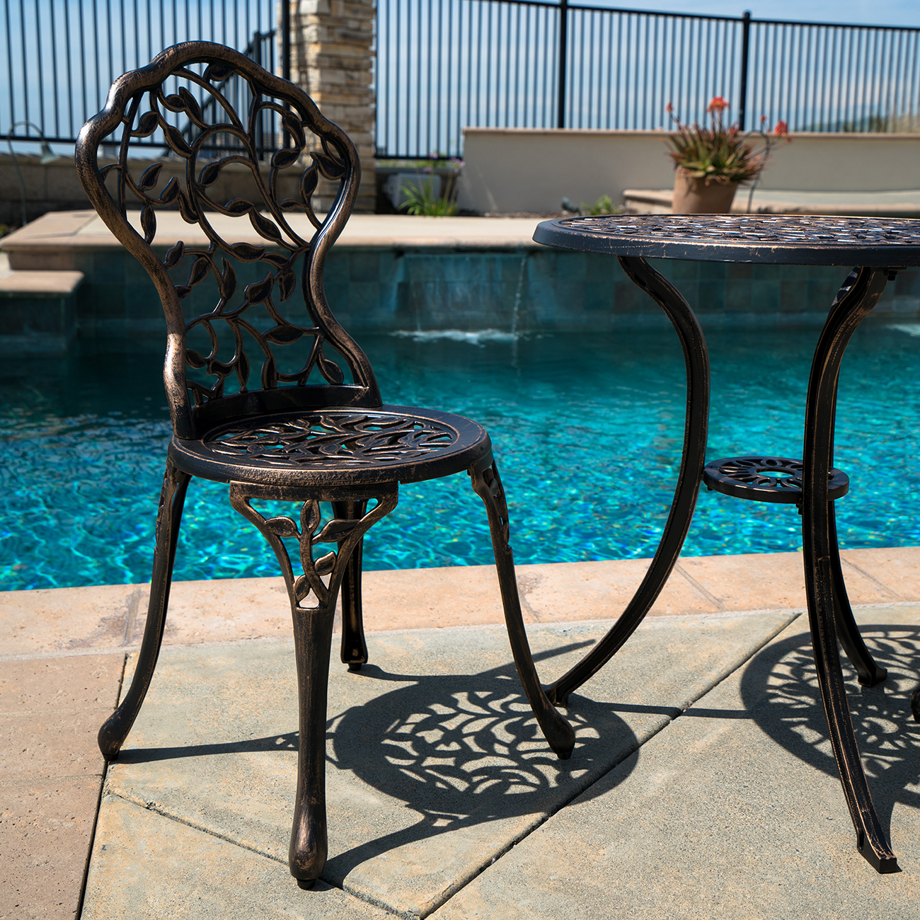 outside table and chairs for 2 lawn chair usa promo code 3pc bistro set patio ivory furniture balcony