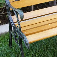 "Outdoor 50"" Patio Porch Deck Hardwood Cast Iron Garden ..."