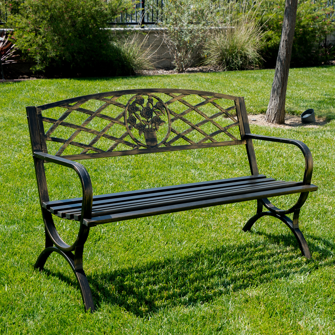 Garden Chair Outdoor Bench Patio Chair Metal Garden Furniture Deck