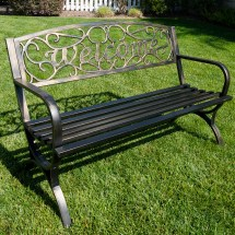 Elegance Design Outdoor Park Bench Backyard Yard