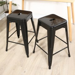 24 Inch Counter Chairs High Chair Birthday Decorations Set Of 2 Vintage Style Stools Metal Modern Bar