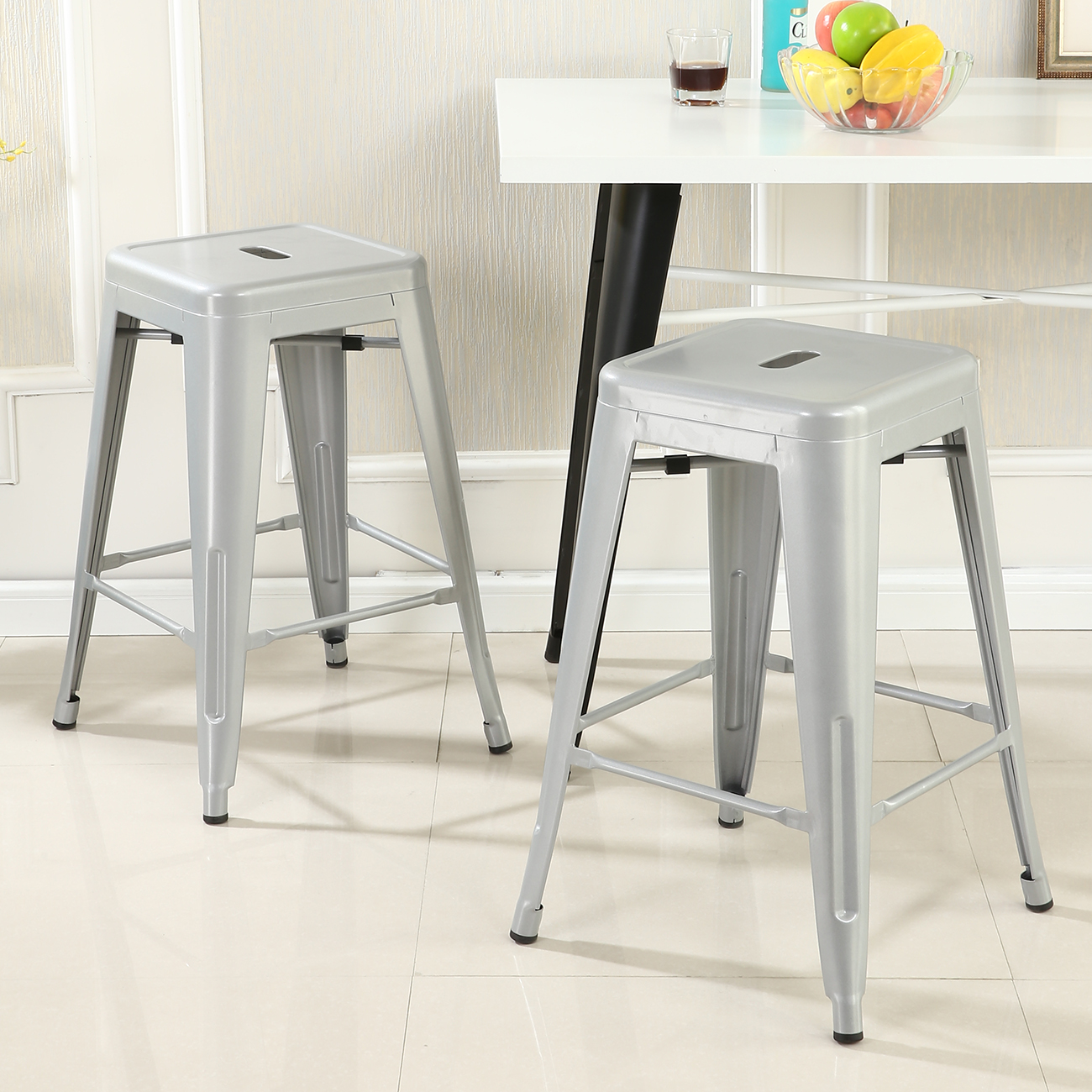 Metal Counter Height Chairs Set Of 2 Metal Bar Stool Counter Height Home 24 Quot 26 Quot 30