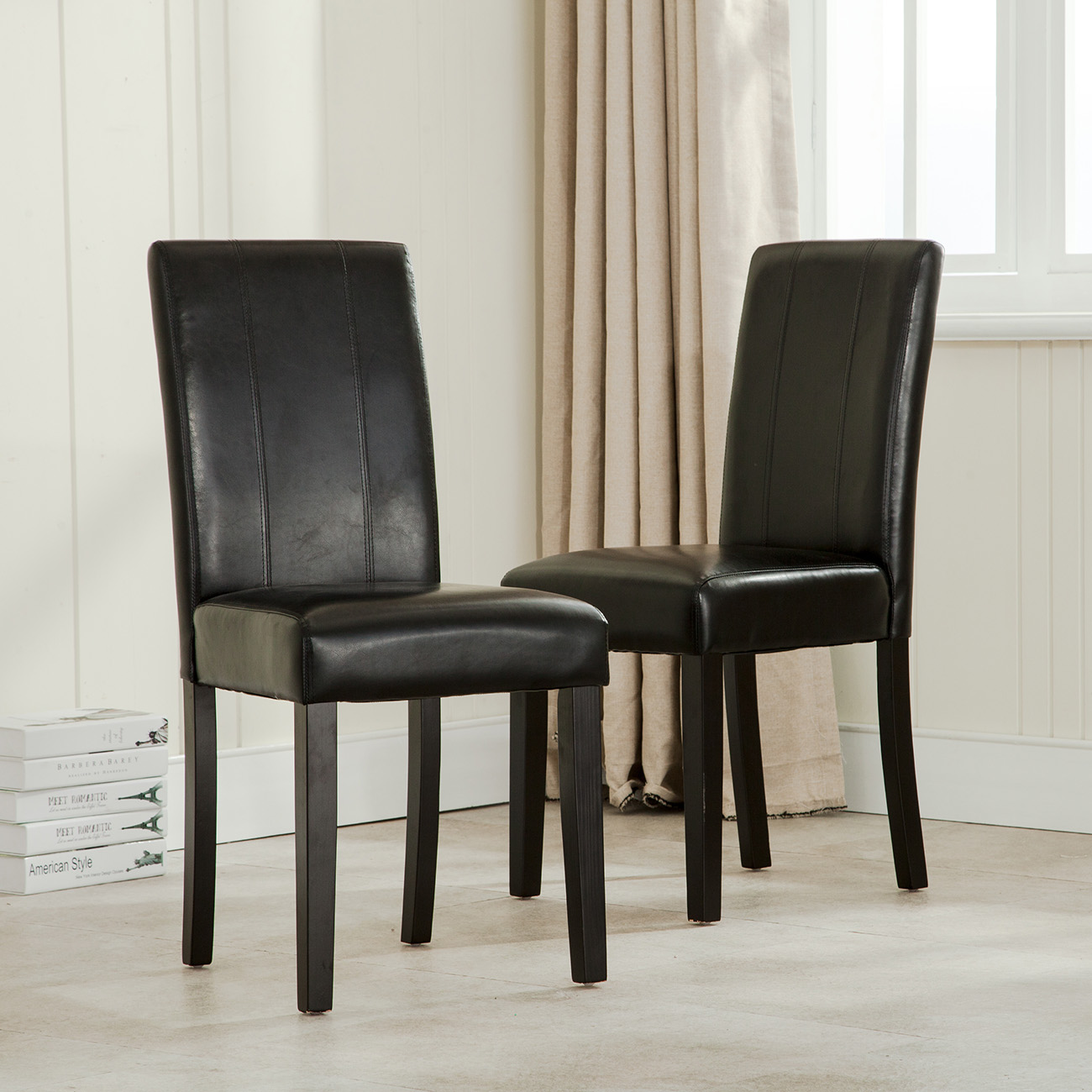 Elegant Chairs Elegant Modern Parsons Chair Leather Dining Living Room