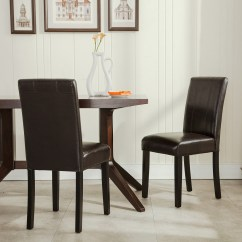 Leather Dining Room Chairs How To Slipcover A Chair With Arms Elegant Modern Parsons Living