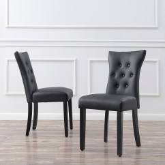 Nailhead Upholstered Dining Chair Covers To Hire Nottingham Set Of 2 Modern Faux Leather