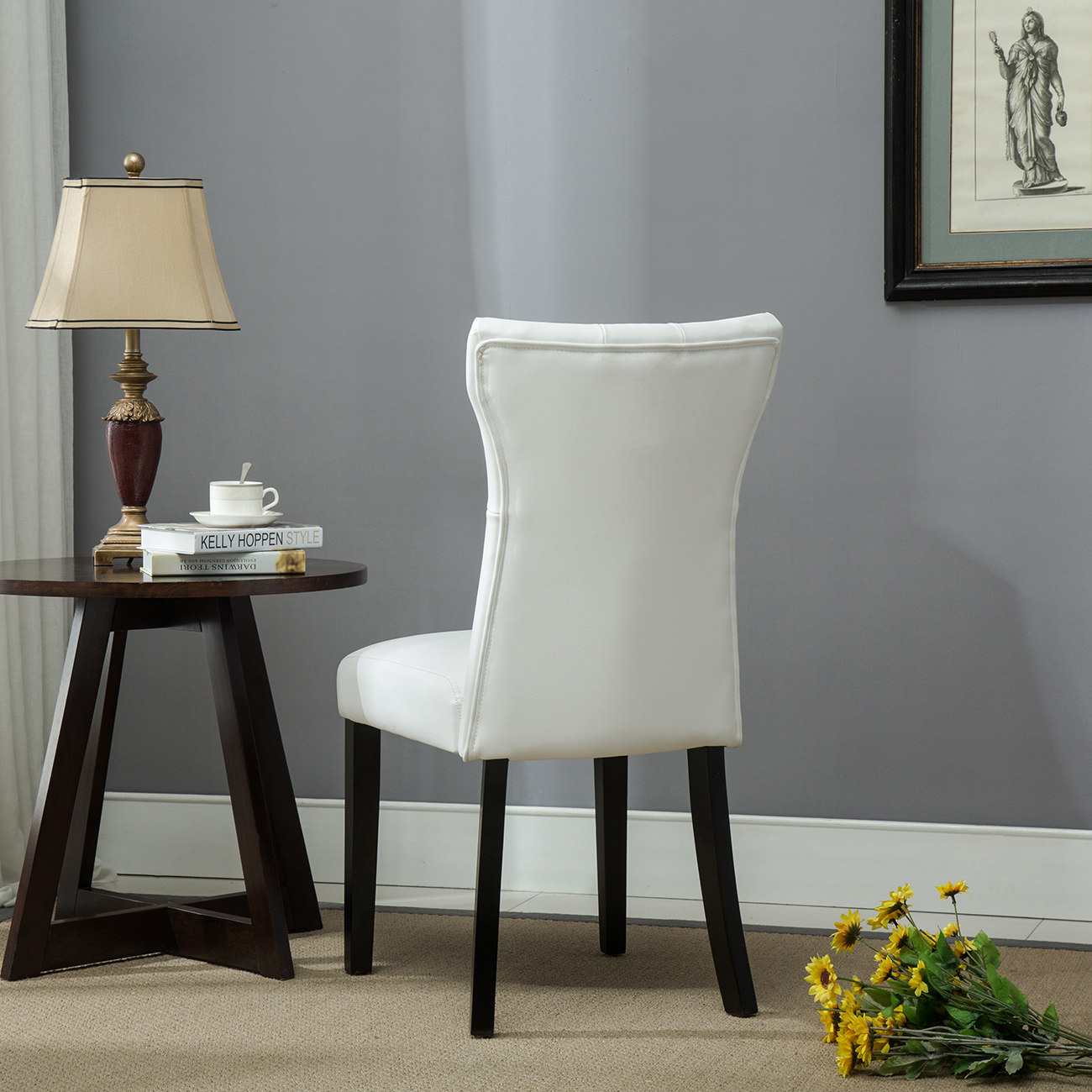 Set of 2 Elegant Design Dining Chair Kitchen Dinette Room