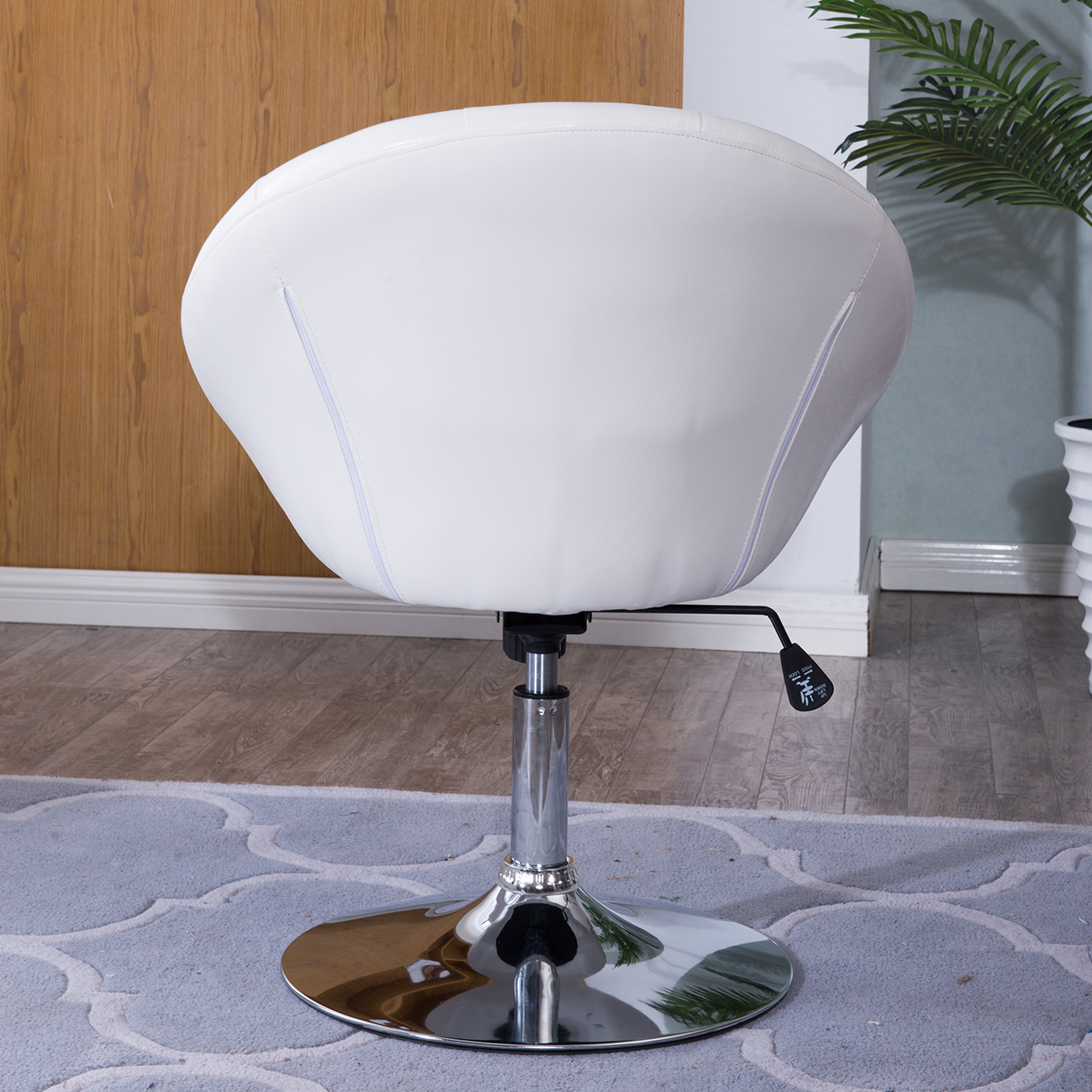 Contemporary Swivel Chairs Modern Contemporary Round Back Tufted Backrest Tilt Swivel