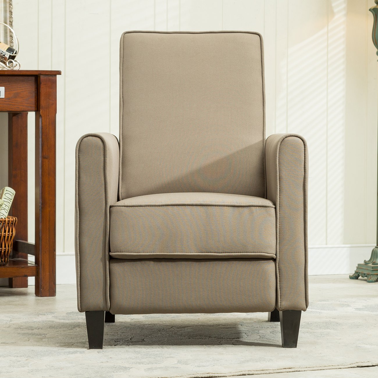 Gray Recliner Chair Recliner Club Chair Living Room Home Modern Design Recline