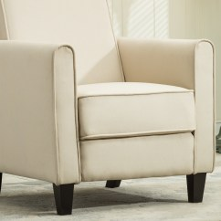 Recliner Club Chair Leather Wingback With Nailhead Trim Living Room Home Modern Design Recline