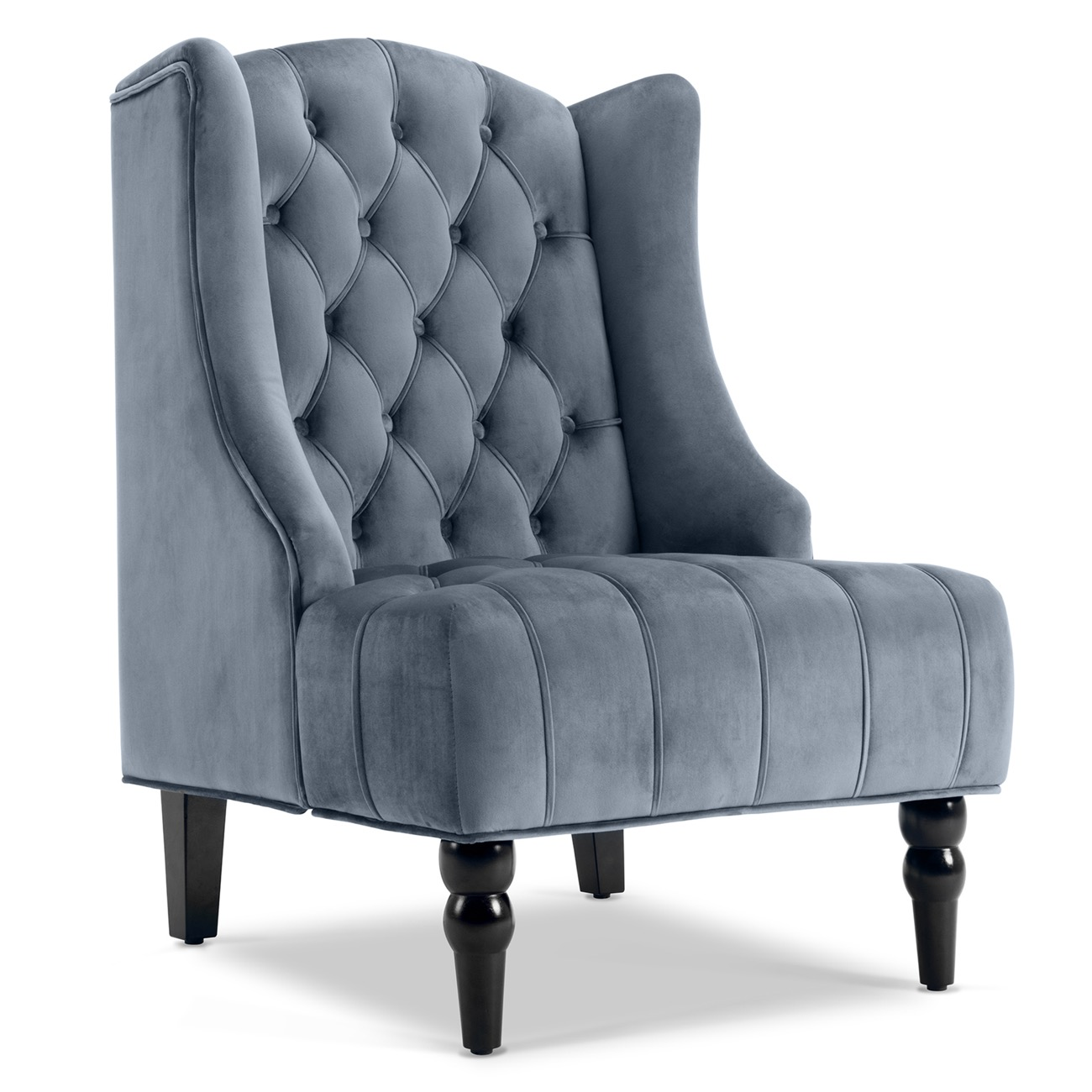 Tufted High Back Chair Details About Wingback Accent Chair Tall High Back Living Room Tufted Nailhead Gray Beige