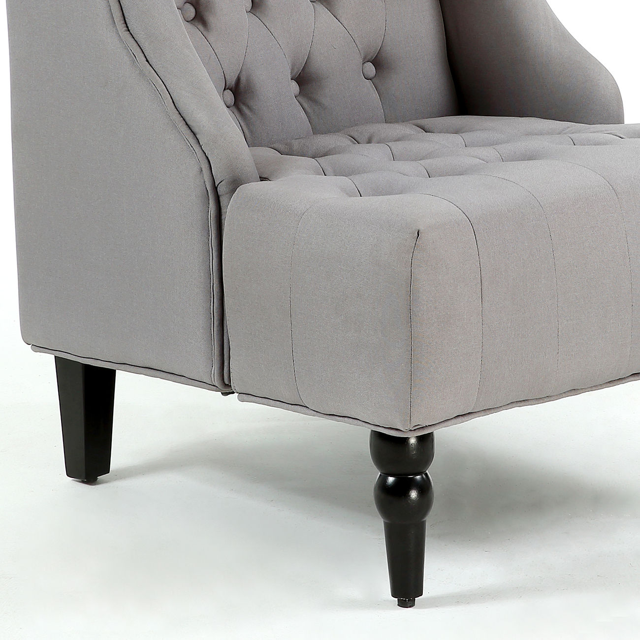 Wingback Accent Chair Tall High back Living Room Tufted